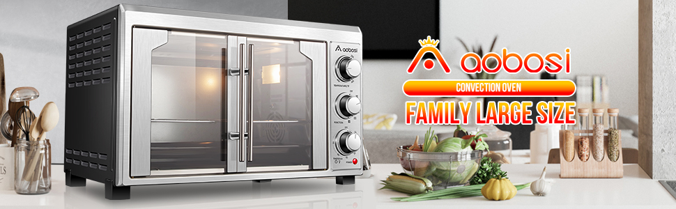 Toaster Convection Oven Countertop Toaster Oven Electric Rotisserie Oven Pizza French Single Door