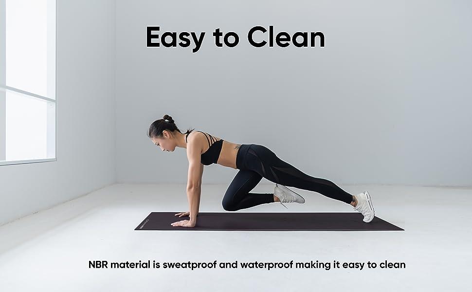 non slip yoga mat thick exercise mat, yoga mat strap, thick exercise mats