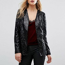 sequin blazer for performance