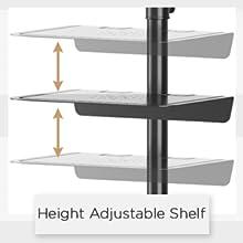 height adjustable shelf