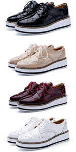 Women's Platform Lace-Up Oxfords Shoe