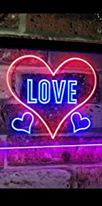 ADVPRO LED Neon sign light-ing Dual-color Love Lovers Valentines heart sweet