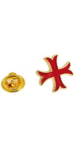 Gemelolandia | Pin de Solapa Cruz Templaria Patada Dorada