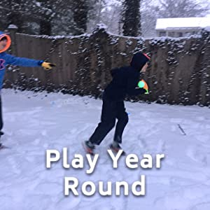 game set to play in the snow or in summer with glow in the dark lights
