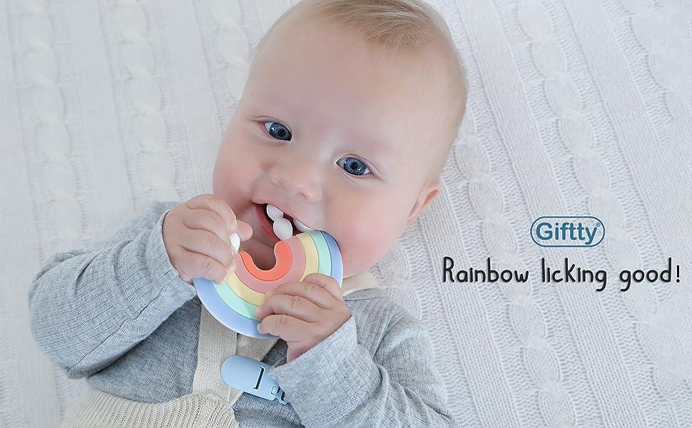 teething rainbow