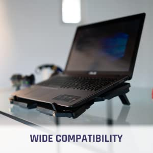 Notebook Cooler 2 Powerful Fans Computer Stand Blue Light Game This Lifting Stand is for 17 Inches Inclusive