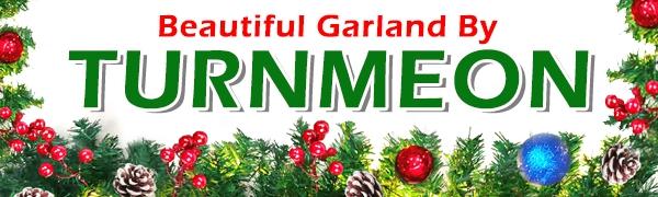 christmas decor  christmas garland christmas decorations  greenery mantle garland