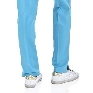 back-view of straight leg fit on MediChic Marilyn Monroe MM1101 women's scrub pant