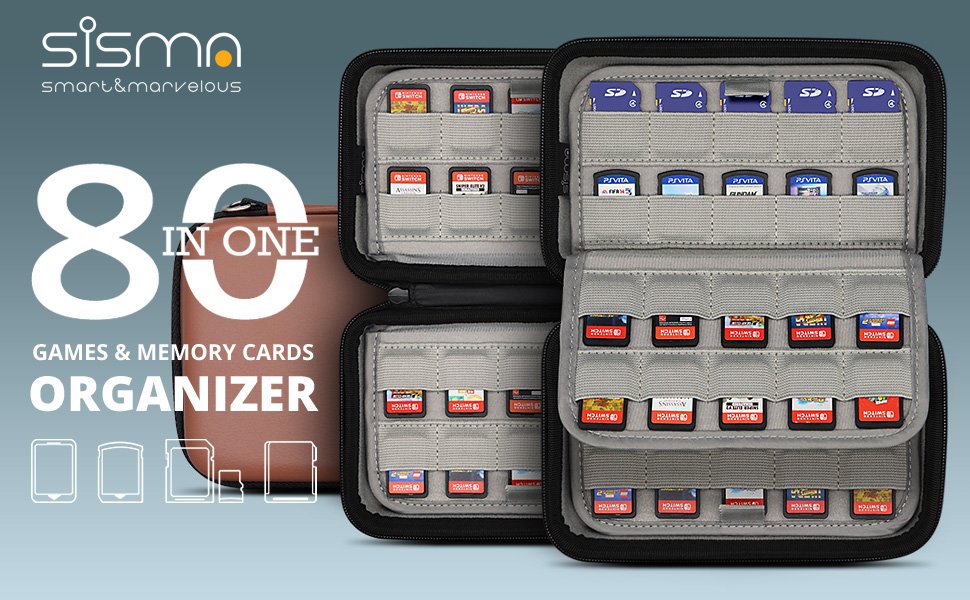 nintendo switch psvita game cartridge sd memory card holder storage case