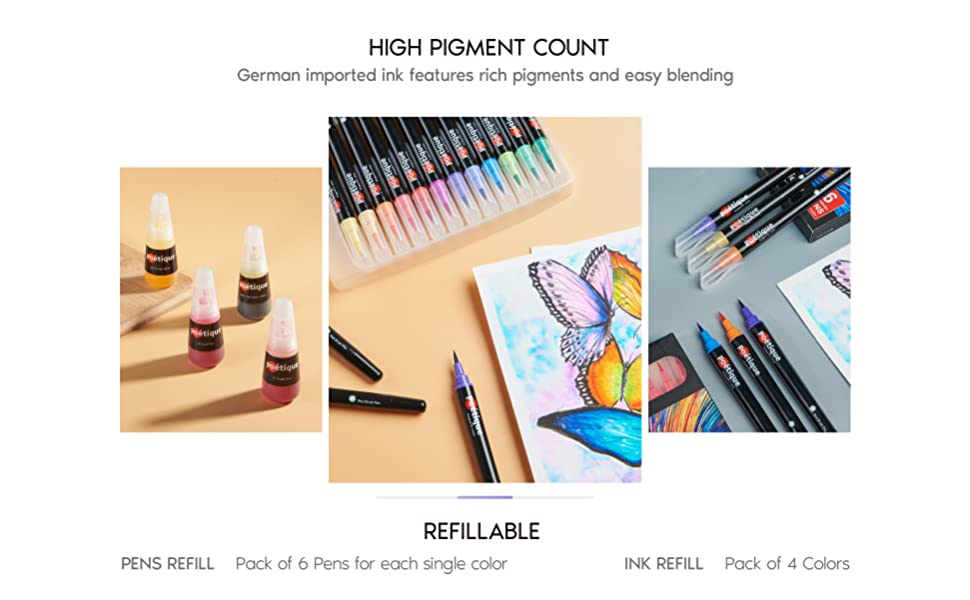 High pigment count