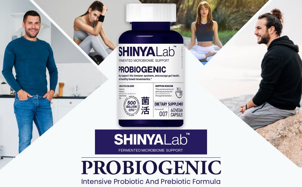 shinyalab, probiogenic, probiotic, prebiotic, intestinal, digestive, aid, support, capsules