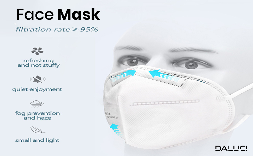 N95 Anti Air Pollution Face Mask With 5 Layer Filter For Men Women