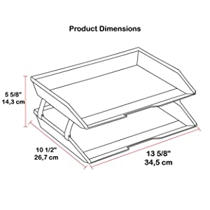 acrimet facility letter tray 2 tier side load white color