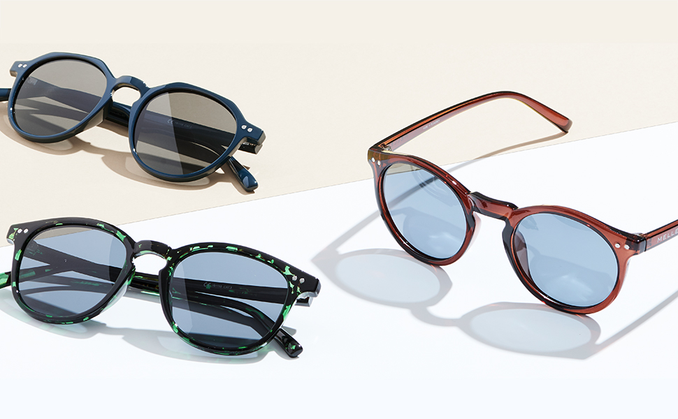 Meller Bioko Glawi Mare Polarised Blue Mirrored Lens Tortoise metal Sunglasses