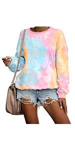 tie dye sweatshirt womens fashion sweatshirts for women