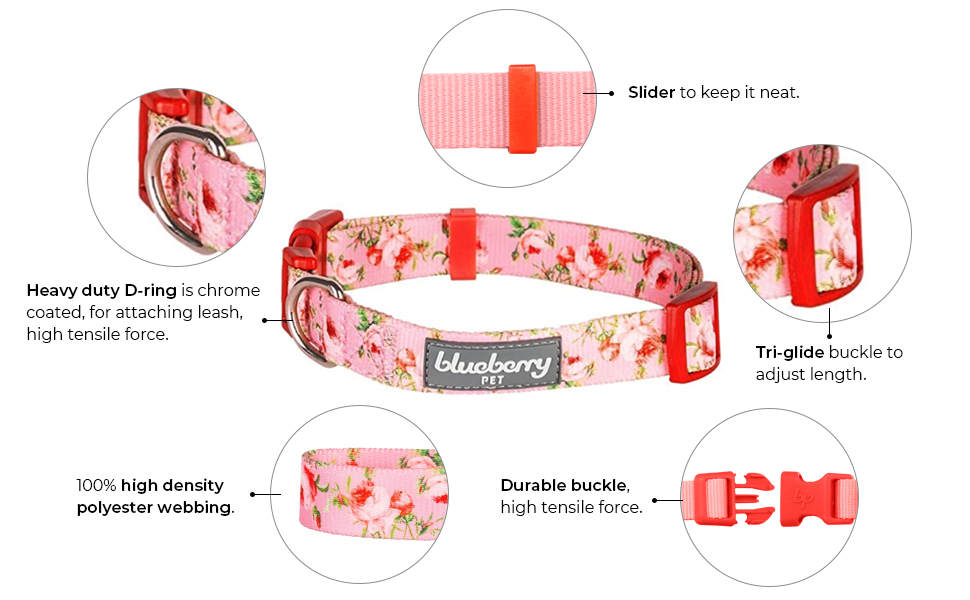 features of spring scent floral collar