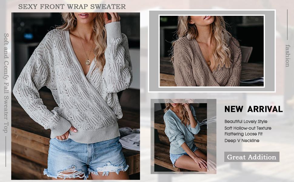 vneck pullover sweater