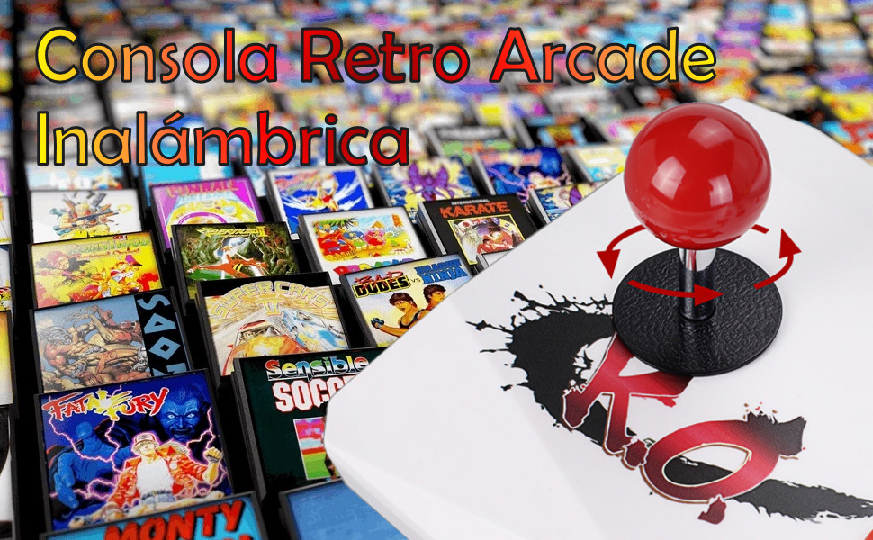 pandora box inalambrica, joystick arcade inalámbrico, recreativa inalambrica, consola retro, snes