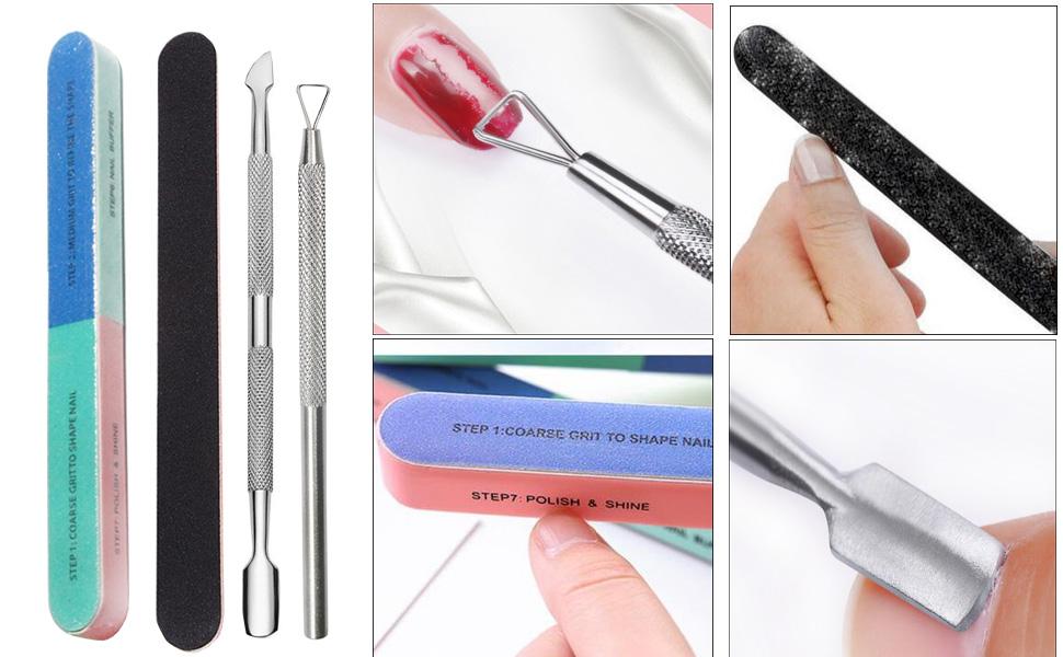 nail polishing shiner buffer file tools poly gel nail rmeoval tools dead skin remover manicure kit