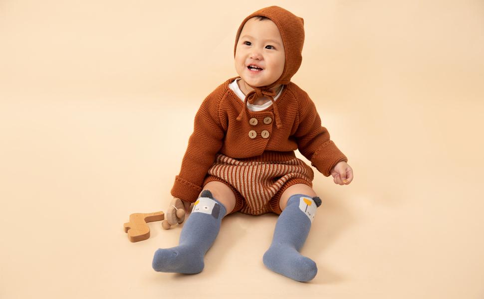 Winter Funny Kid Children Lightweight Warm Cotton Terry Socks 5 Pairs