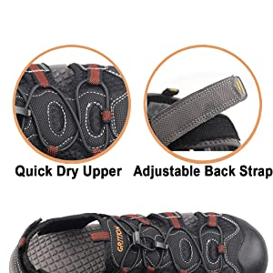 Quick dry & adjustable back strap