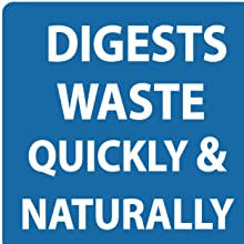 digests waste quickly easily