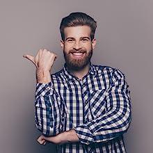 satisfaction guaranteed bearded man happy beard oil
