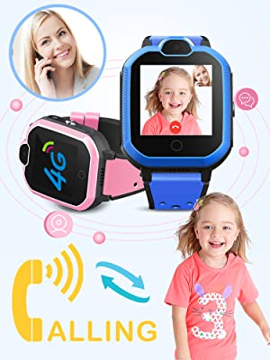 Boys Girls Smartwatch video call 2 ways call Chilrens students cell phone kids GPS birthday gifts