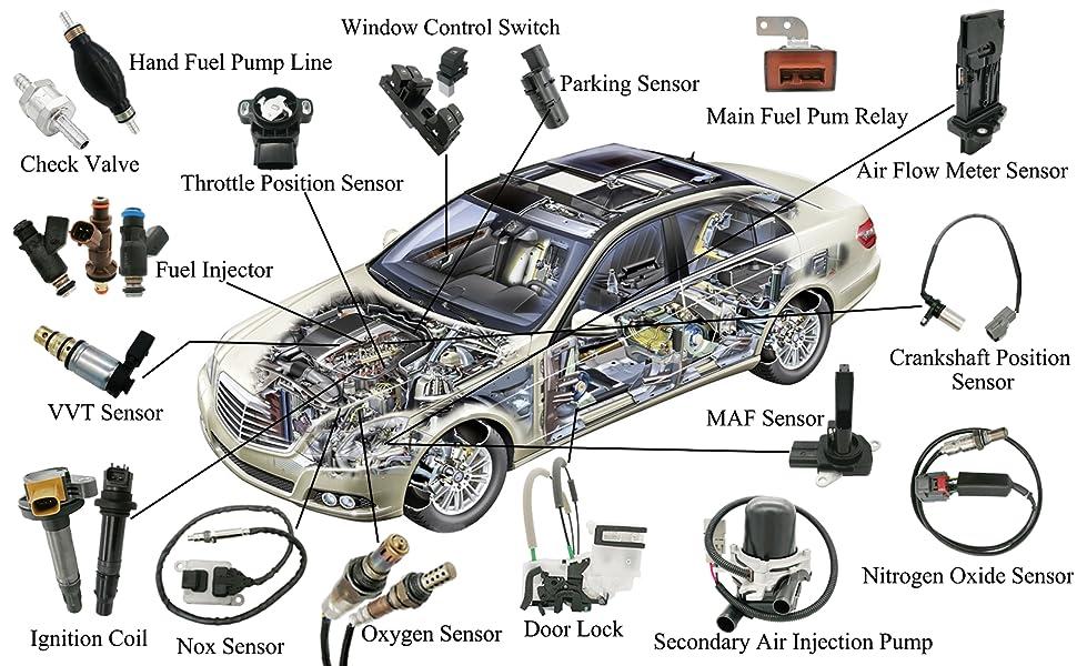 O2 Oxygen Sensor Upstream Downstream For Honda Accord CL EX SE Civic CRV Pair