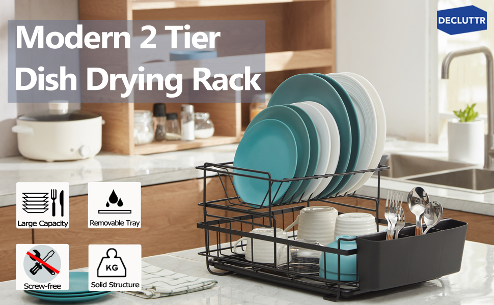 dish rack with drainboard set