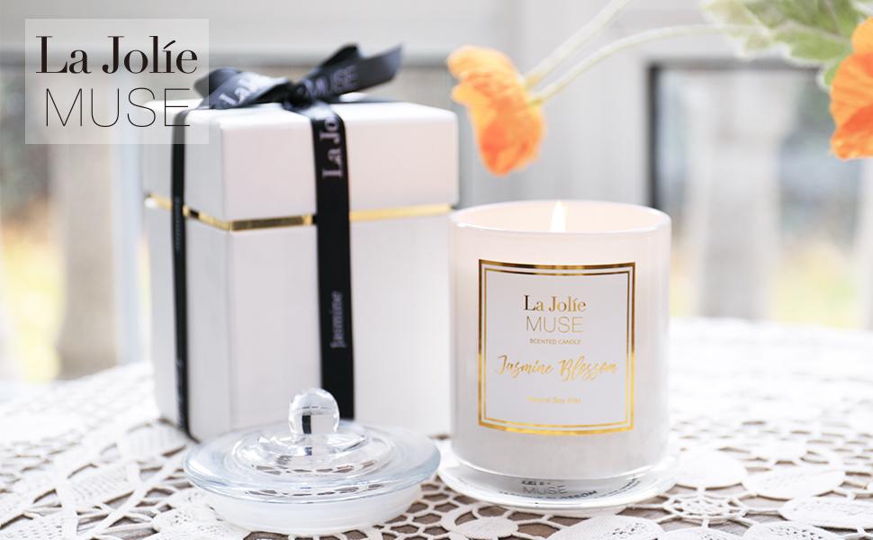 White jasmin et Freesia votive Candle Heart /& Home 15hr brûle parfum tout au long de
