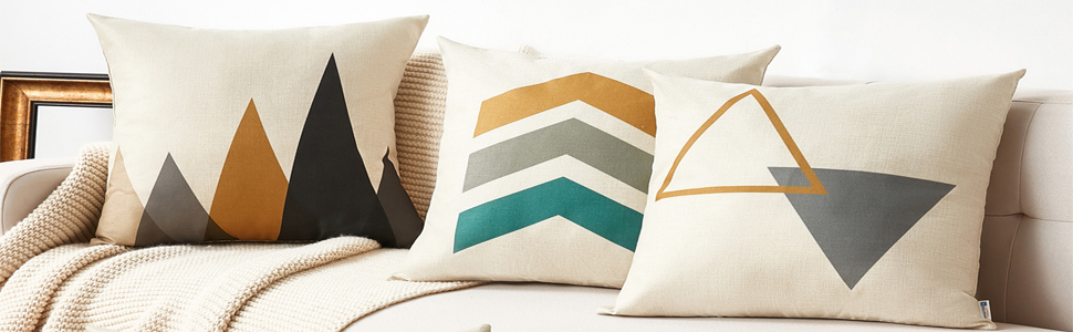 gray pillow covers
