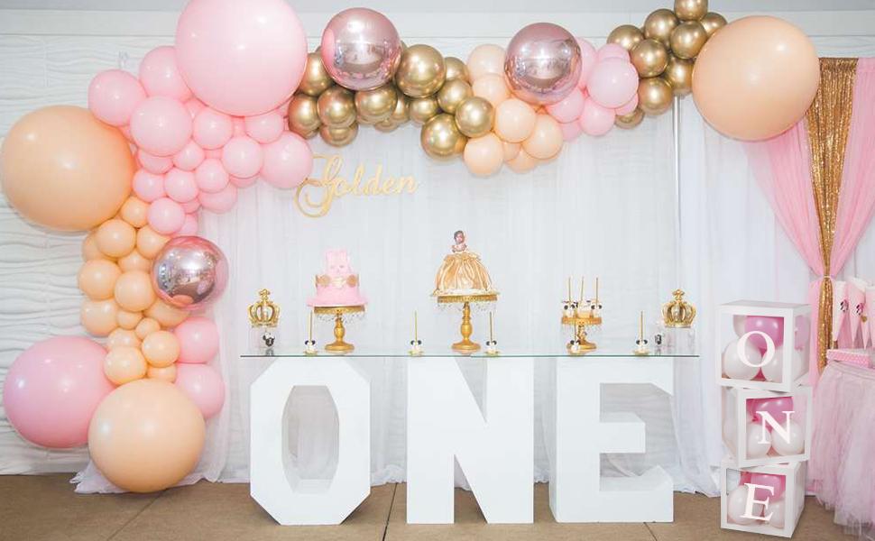 1st birthday box decorations