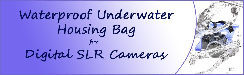 Universal Waterproof Underwater Housing Bag for Canon Nikon Sony Pentax Brand Digital SLR Cameras