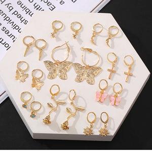 HalfFan Hoop Earrings-Hand CrochetBohoSummer EarringsStatement EarringsUniqueGifts forHerHoop earringsSpringSummerBridesmaidsJewelry
