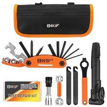 bike repair kit with pump
