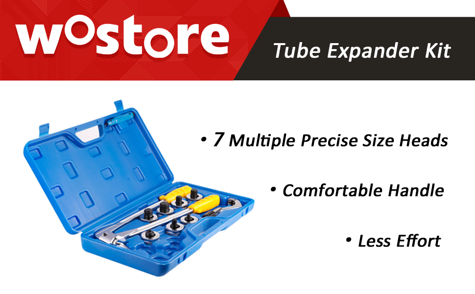 Acero 40CR expansor de Tubo expansor de Tubo Manual Kit de expansi/ón de Tubo hidr/áulico Cocoarm Kit de Herramientas de abocardado de Tubos de 3//8-1-5//8