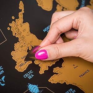 Wanderlust Mapa Mundi Rascar y Mapa Rascable Europa, Color Negro y ...