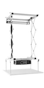 Projektorma/ße 56cm x 55cm max celexon Beamer-Deckenlift PL2000 ausfahrbar bis 190cm bis 15kg