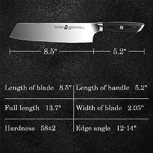 8.5 inch kiritsuke knife