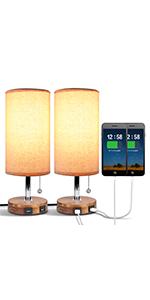 bedside lamp set of 2
