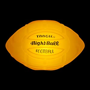 nightball football orange lightup glow sports ball
