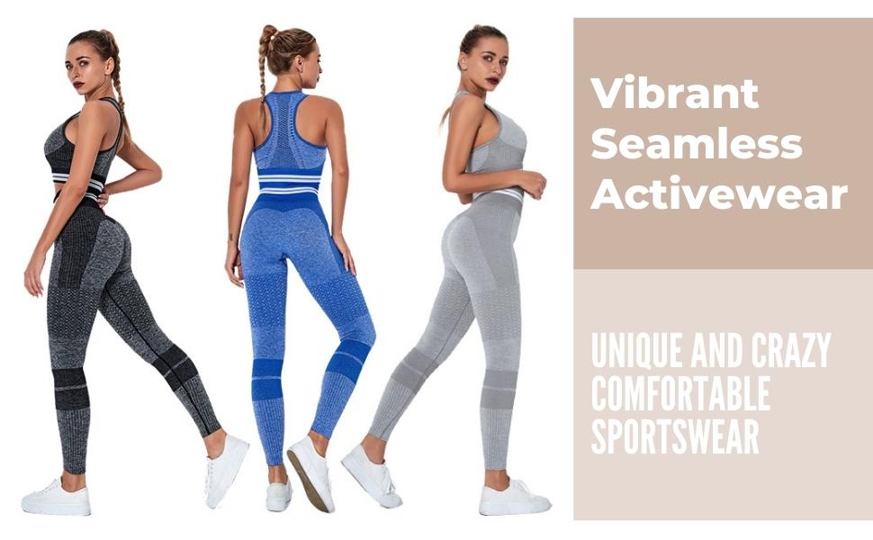 Vibrant Seamless Leggins and Sports Bra