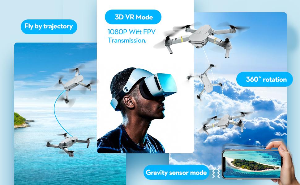 One key take off / land /3D fLIP, 3D VR MODE/ Gravity mode