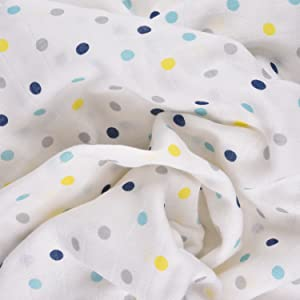 MUSLIN SWADDLE WRAP FOR NEW BORN BABY