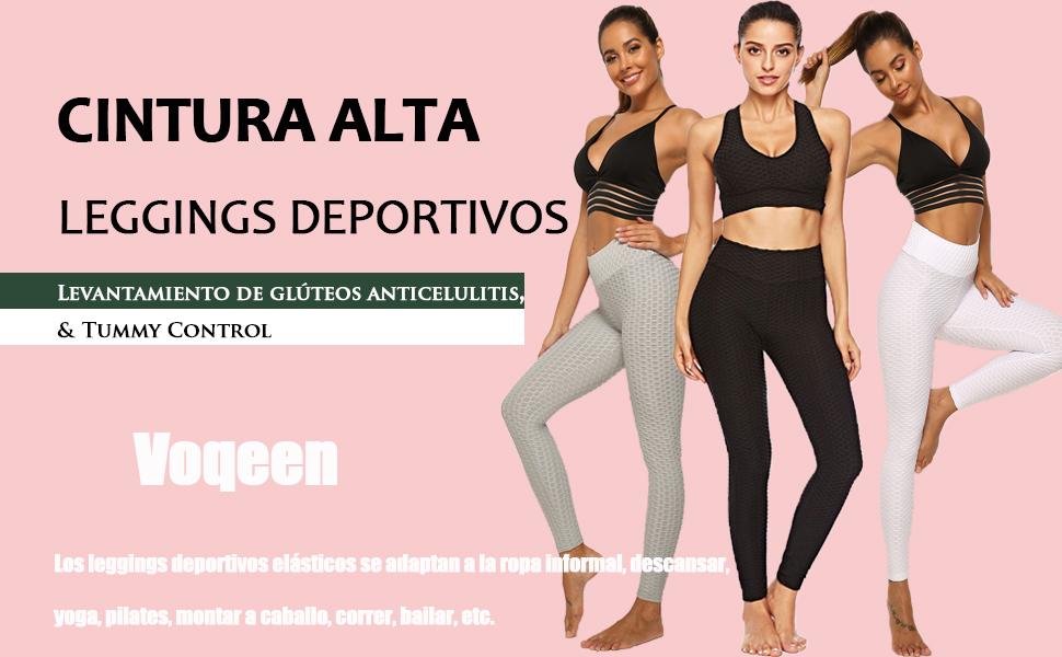 Voqeen Pantalones De Yoga De Cintura Alta para Mujer, Leggings Sexis Anticelulíticos