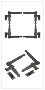 KOTARBAU hoekband, raamdeur, grendel, scharnieren, banden, ventilatierooster, paaldrager, verbindingen