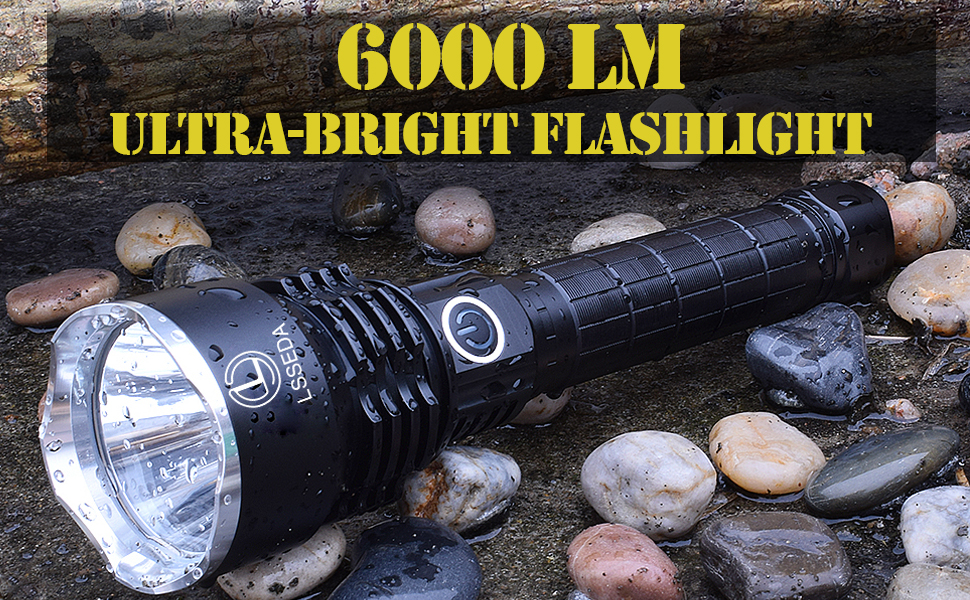 powerful flashlight tactical rechargeable