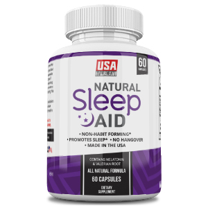 Natural Sleeping Aid Pills for Adults Extra Strength | Herbal Melatonin, Chamomile & Valerian Root