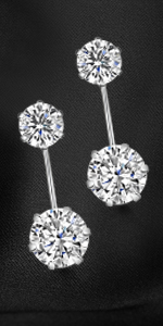 Amberta Women's 925 Sterling Silver Dangle Drop Earrings